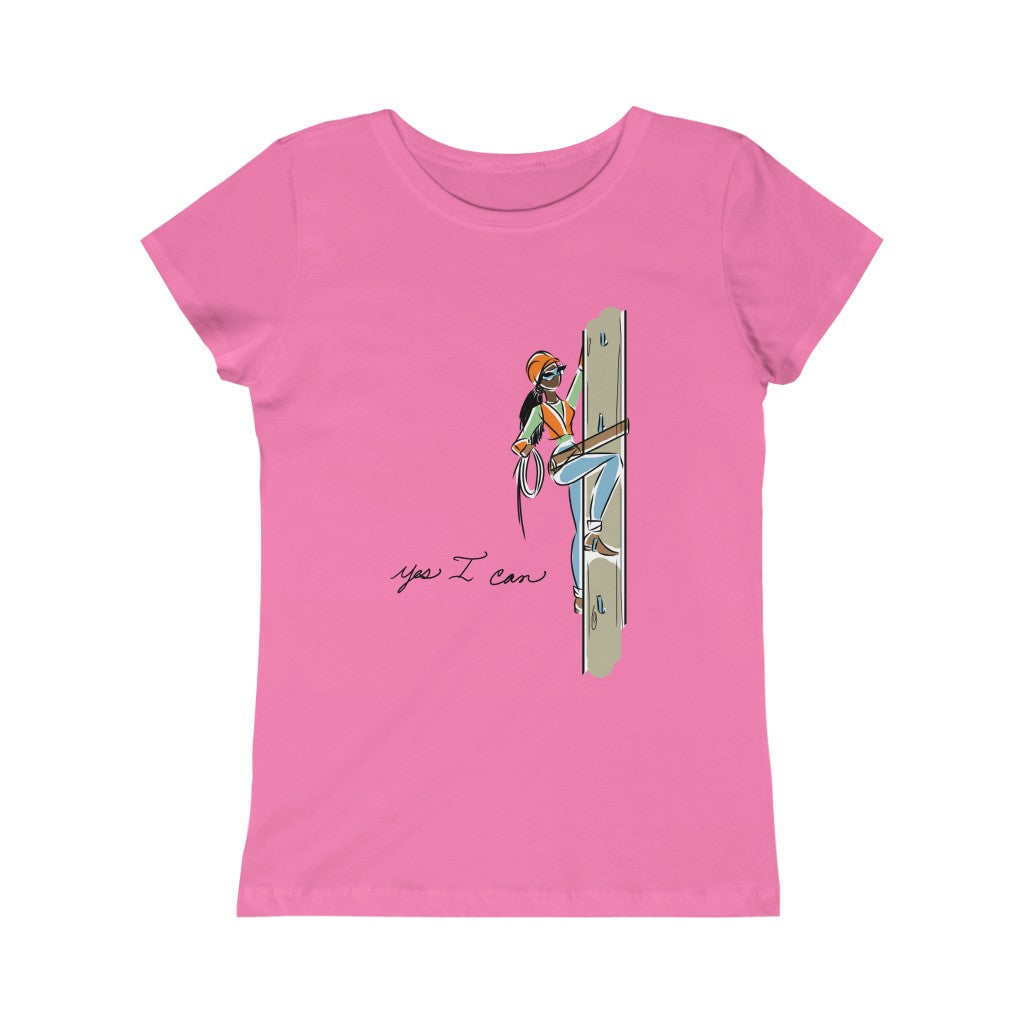 Kids Princess Tee (Asst Colors) - Yes I can, Utility Worker