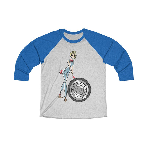 Unisex Tri-Blend 3/4 Raglan Tee (Asst Colors) - Yes I can, Mechanic