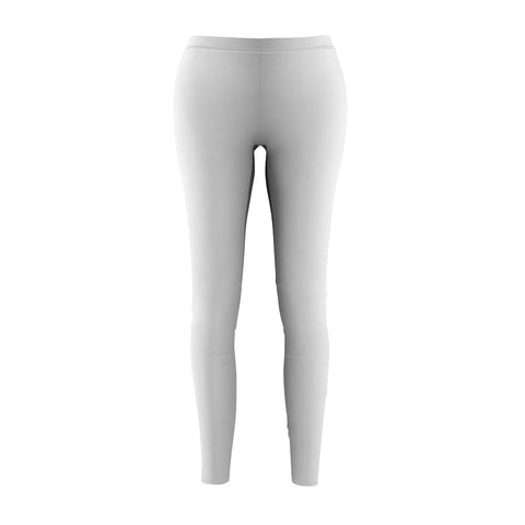 Women's Casual Leggings - Silver Pipe Ombre