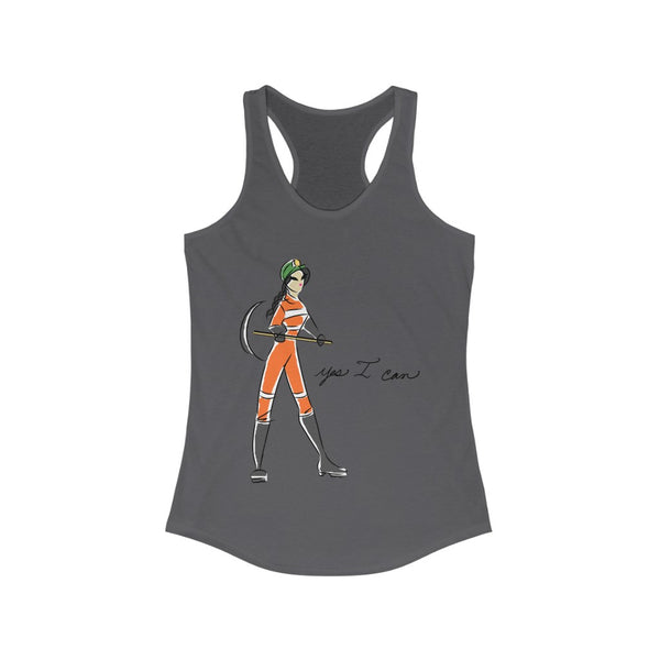 Women's Ideal Racerback Tank (Asst Colors) - Yes I can, Miner