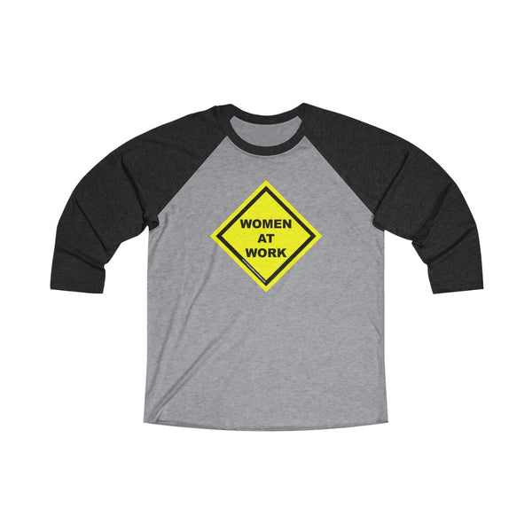 Unisex Tri-Blend 3/4 Raglan Tee (Asst Colors) - Women at Work