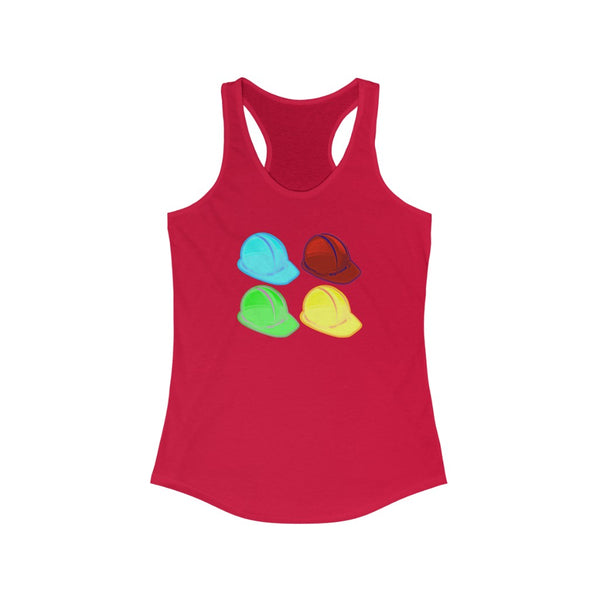 Women's Ideal Racerback Tank (Asst Colors) - Pop Art Hard Hats