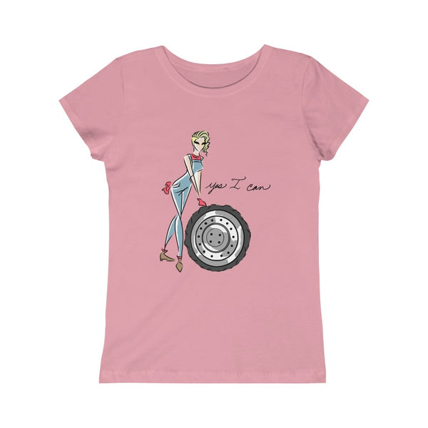 Kids Princess Tee (Asst Colors) - Yes I can, Mechanic