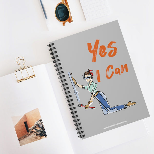 Spiral Notebook, Ruled Line - Yes I Can, Plumber