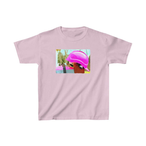 Kids Heavy Cotton™ Tee (Asst Colors) - Safety in Pink