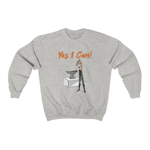 Heavy Blend™ Crewneck Sweatshirt (Asst Colors) - Yes We Can, Blacksmith