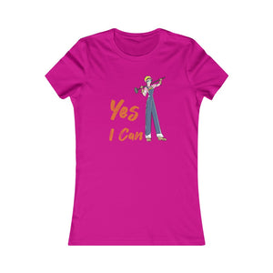 Slim Fit Tee (Asst Colors)- Yes I Can, Construction