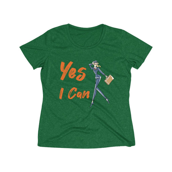 Heather Wicking Tee (Asst Colors) - Yes I Can, Airline Pilot