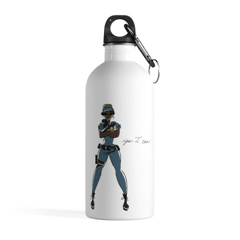 Stainless Steel Water Bottle - Yes I can, Police Officer