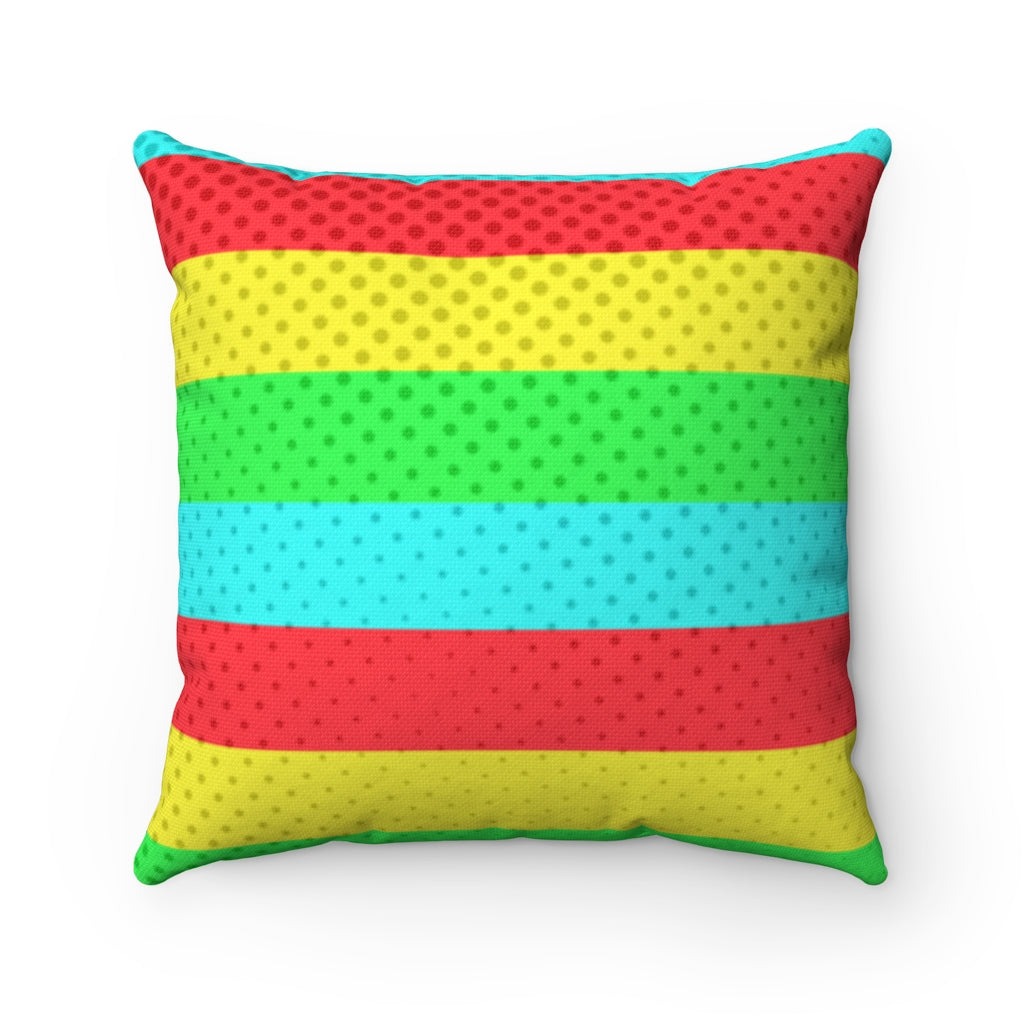 Spun Polyester Square Pillow - Pop Art Stripes