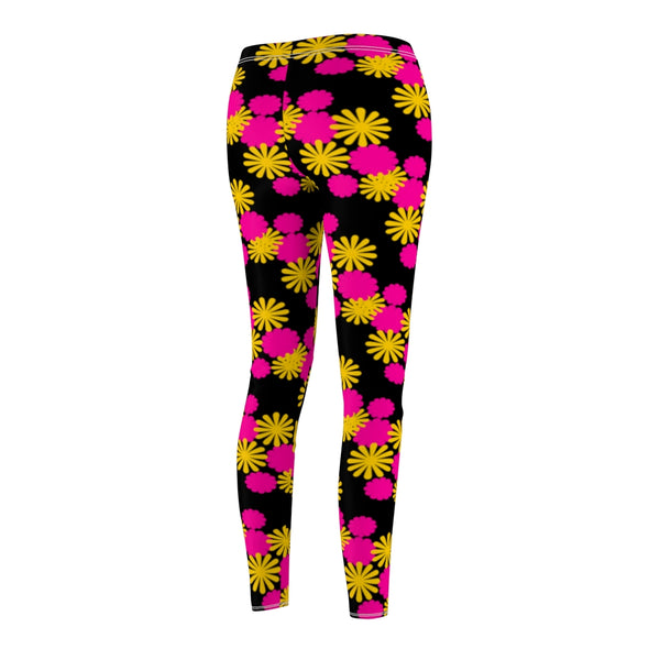 Women's Casual Leggings - Born to make a difference, Flower Power