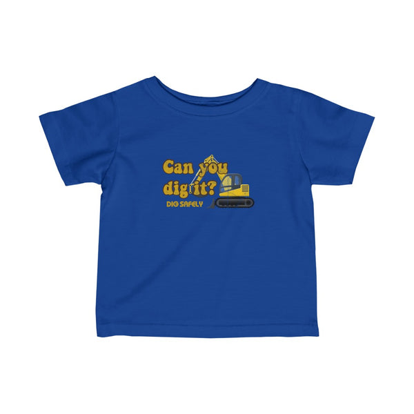 Infant Fine Jersey Tee (6M-24M) (Asst Colors) - Retro Can you dig it
