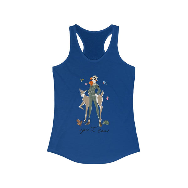 Women's Ideal Racerback Tank (Asst Colors) - Yes I can, Ranger