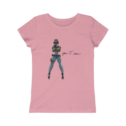 Kids Princess Tee (Asst Colors) - Yes I can, Police Officer