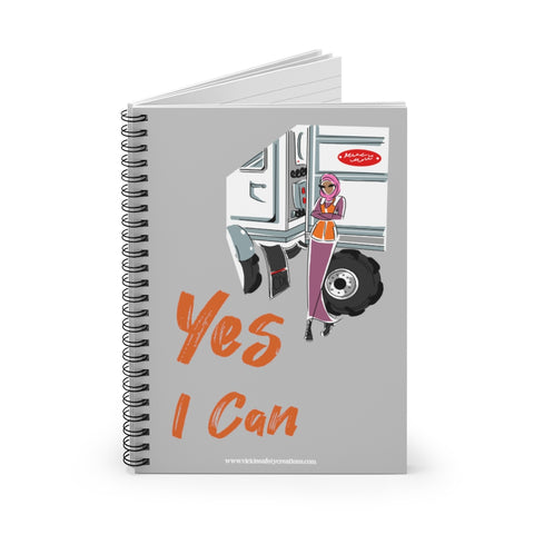 Spiral Notebook, Ruled Line - Yes I Can, CDL Driver