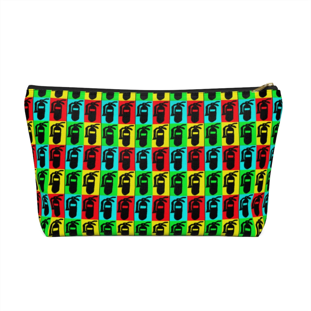 Accessory Pouch w T-bottom - Pop Art Fire Extinguishers