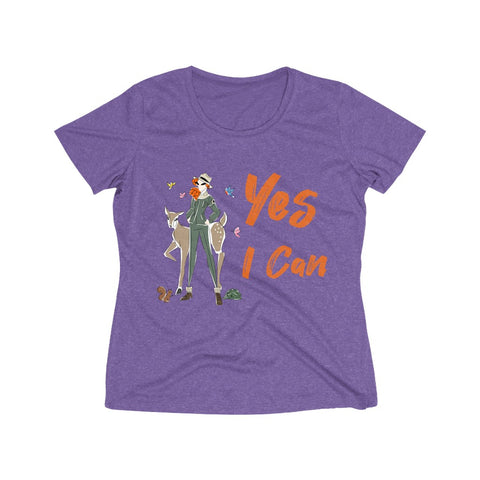 Heather Wicking Tee (Asst Colors) - Yes I Can, Ranger