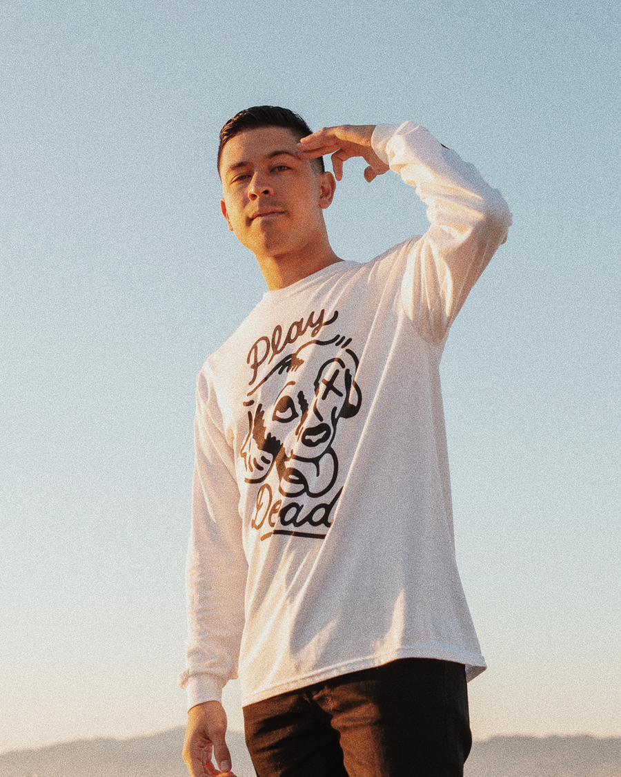 Play Dead White Long Sleeve
