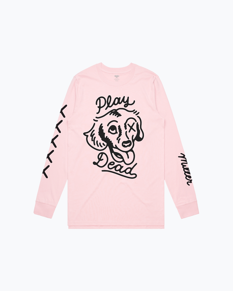 Play Dead Light Pink Long Sleeve