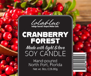 Cranberry Forest Soy Candle