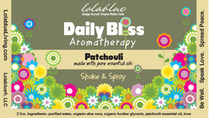 2oz  Daily Bliss Aromatherapy Spray: Patchouli