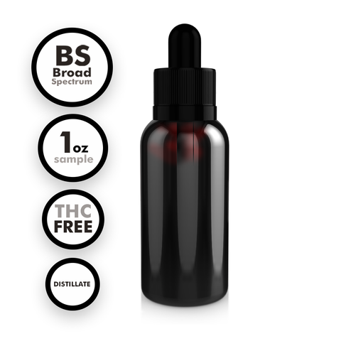 Broad Spectrum THC-Free Distillate Tincture (1 oz Sample)