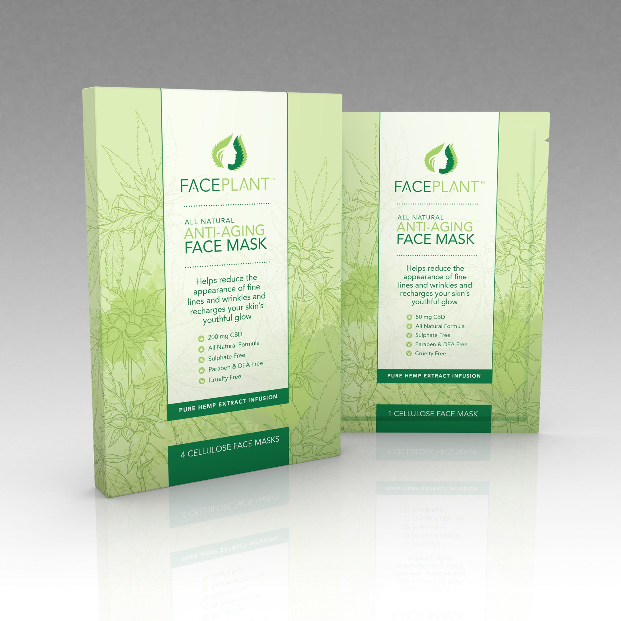 FacePlant 200 mg Anti-Aging Cellulose Face Mask (Sample)
