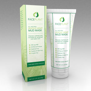 FacePlant 400mg Whole Hemp Mud Mask (Sample)