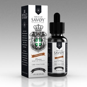 House of Savoy 1500 mg Full Spectrum Tincture, Cinnamon (Sample)