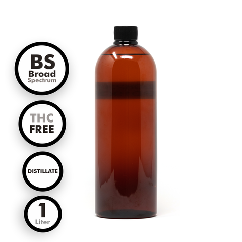 Broad Spectrum THC-Free Distillate Tincture (1 Liter)