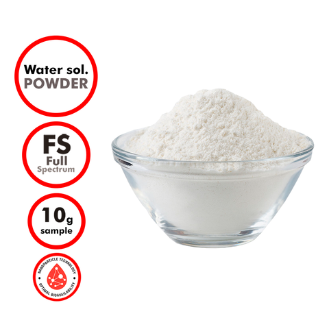 10% Full Spectrum Topical Formulation Water Soluble Powder (Sample)