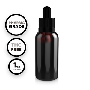 Pharma-Grade THC-Free CBD Tincture (1 oz Sample)