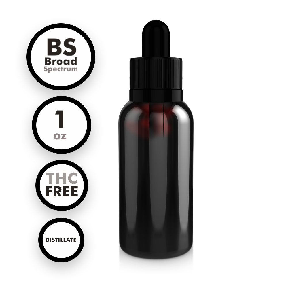 Broad Spectrum THC-Free Distillate Tincture (1 oz)