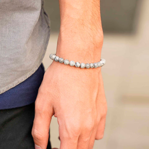 Image of Natural Stone With Stainless Steel Bracelet