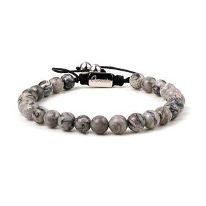 Natural Stone With Stainless Steel Bracelet
