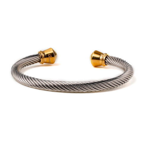 Stainless Steel Nylon Cuff Men Gold Decoration Bracelet - Ouraniastore