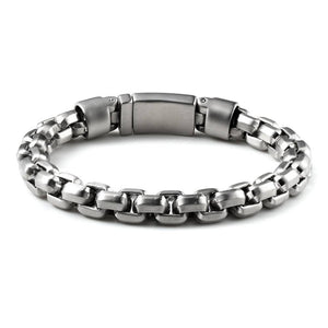 Power Strength Stainless Steel Linked Chain Clasp Bracelet - Ouraniastore