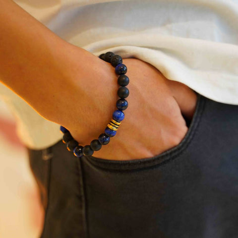 Image of Mens Natural Stone Bead Bracelet - Ouraniastore