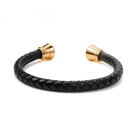 Stainless Steel With Knit Leather Bracelet - Ouraniastore