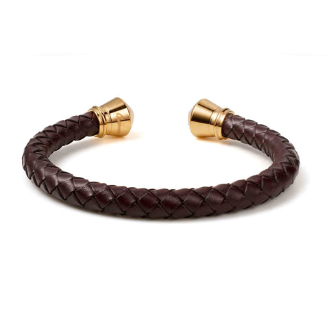 Image of Stainless Steel With Knit Leather Bracelet - Ouraniastore
