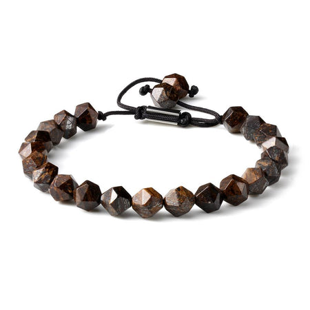 Men's Faceted Cut Gemstone Beads Handmade Braided Bracelet - Ouraniastore