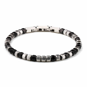 Stainless Steel Hexagon Beads Mixed Bead Bracelet - Ouraniastore