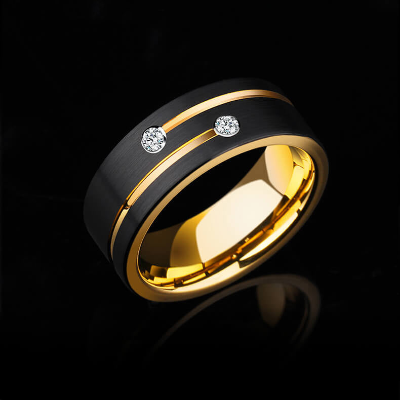 Zircon Tungsten Carbide Rings For Men - Ouraniastore