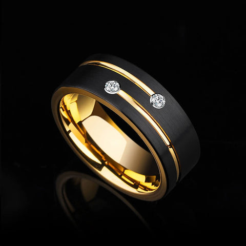 Image of Zircon Tungsten Carbide Rings For Men - Ouraniastore