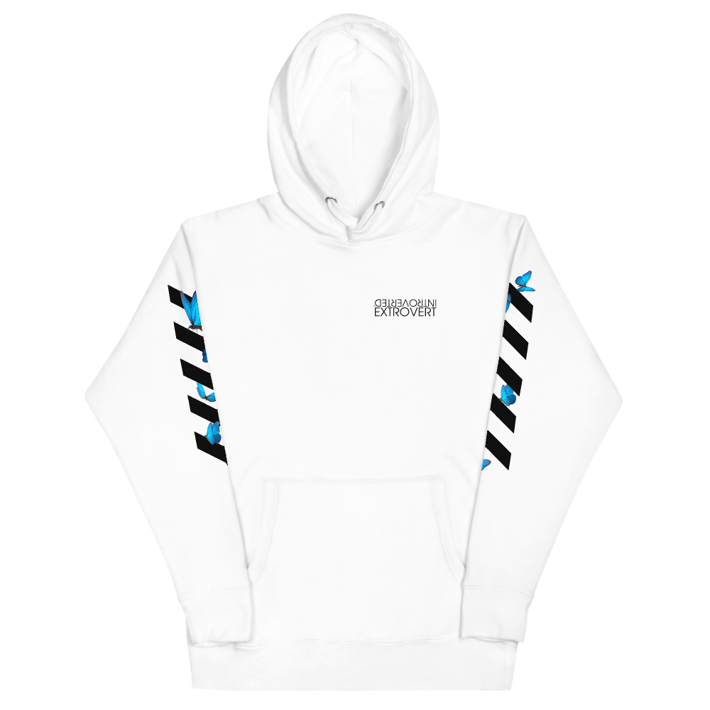 Series 1 - Butterfly Hoodie (White) - IntrovertedExtrovert™