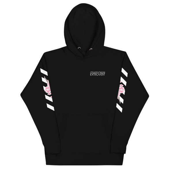 Series 1 - Blossom Hoodie (Black) - IntrovertedExtrovert™