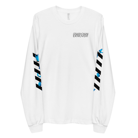 Series 1 - Butterfly Long Sleeve (White) - IntrovertedExtrovert™