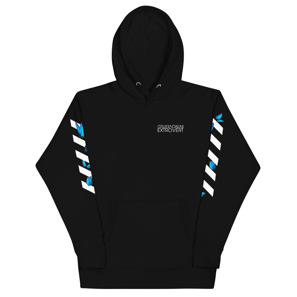 Series 1 - Butterfly Hoodie (Black) - IntrovertedExtrovert™