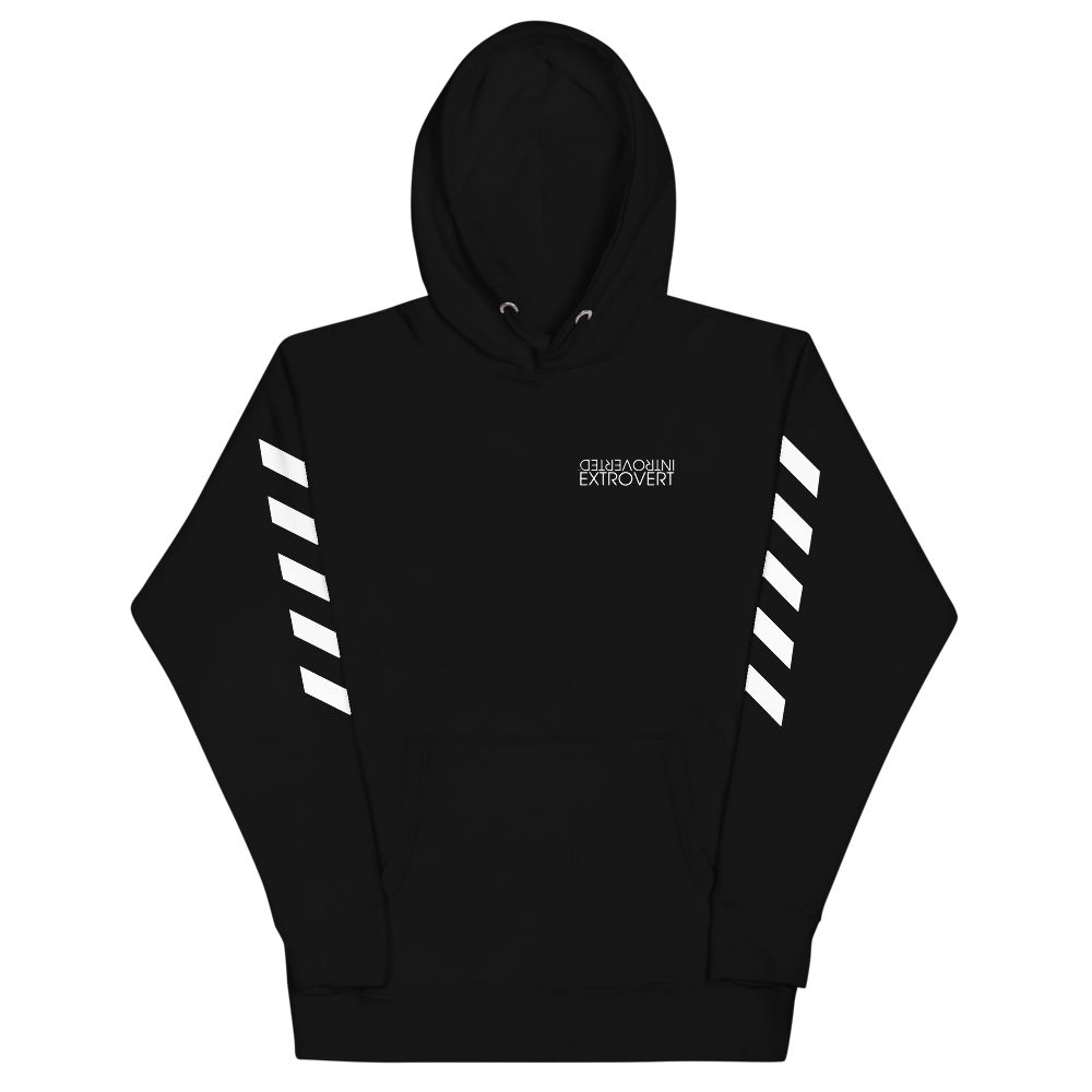 Series 1 - Classic Hoodie (Black) - IntrovertedExtrovert™