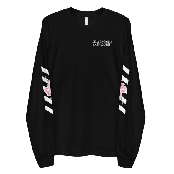Series 1 - Blossom Long Sleeve (Black) - IntrovertedExtrovert™